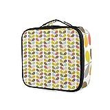 LUPINZ Bolsa de maquillaje de hojas coloridas bolsa organizadora de viaje bolsa de aseo para niña