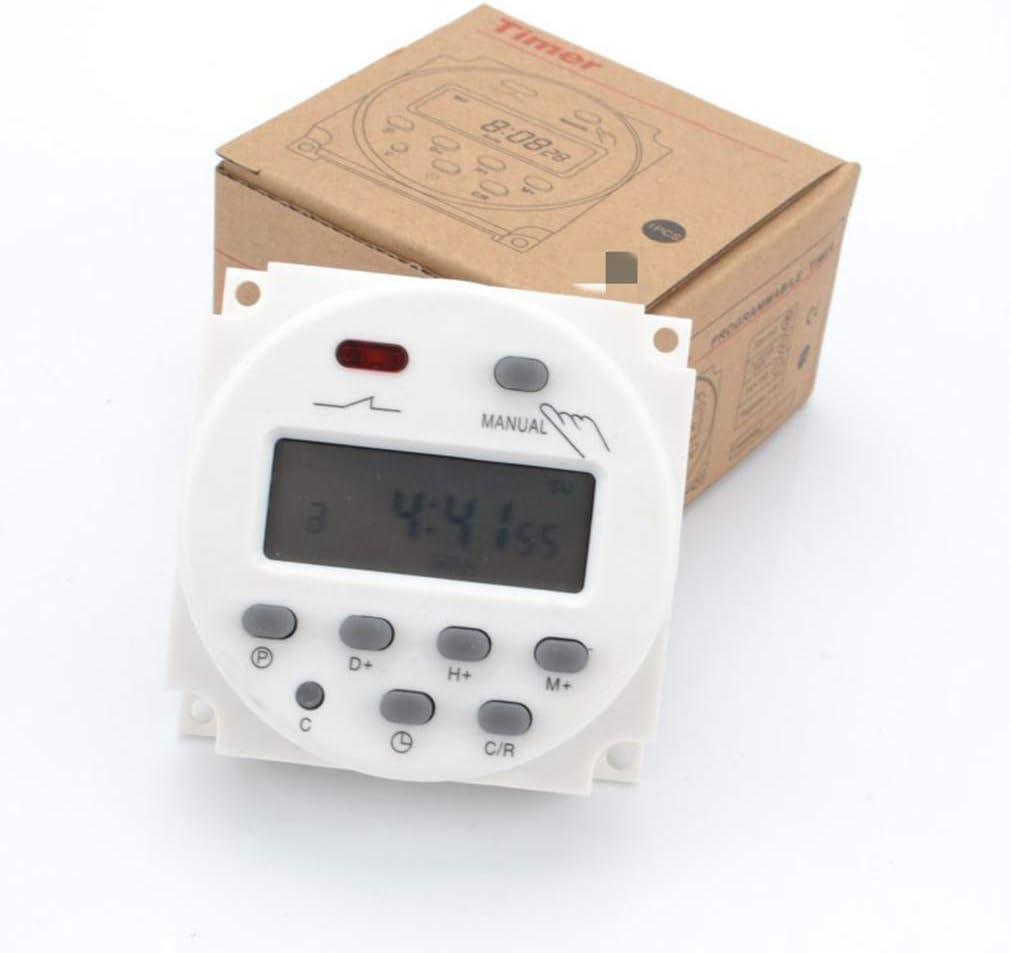 Guangcailun AC110V num/érique LCD Temps daffichage IInterrupteur hebdomadaire /électronique programmable