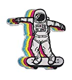 PatchClub Skater Astronaut Patch - Cool Space Patches - Embroidered Iron On/Sew On for Backpack, Hat, Jacket, Hoodie