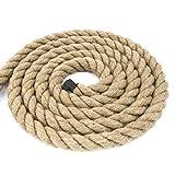 10m cuerda de yute 40mm 3-hebra