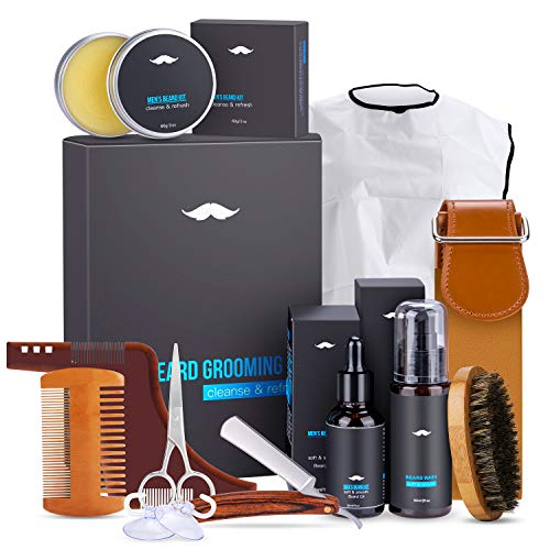 Kit de Soins Barbe, Magicfun 10 in 1 Kit de Barbe Complet...