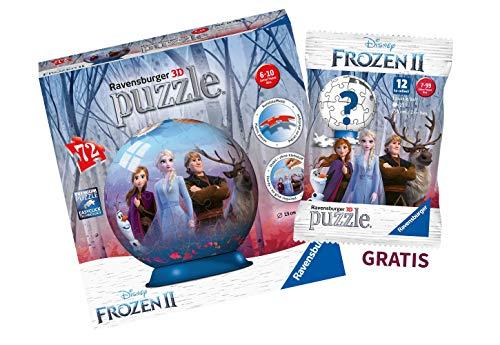 Ravensburger Kinderpuzzle 11142 3D Puzzle + Disney Frozen 2 blindpack - 3D-Puzzle-Ball gratis