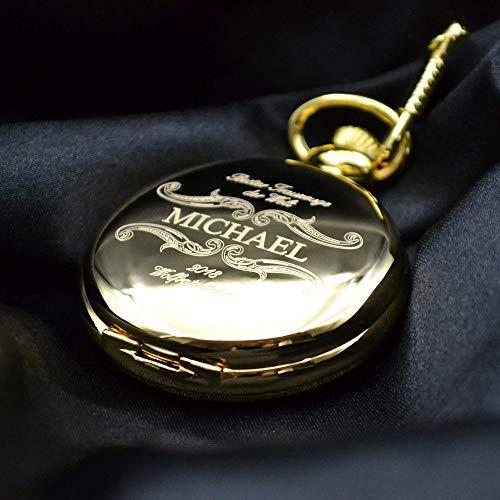 Taschenuhr mit Gravur Bester Trauzeuge   Farbe Gold