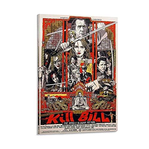 Art Kill Bill Movie Poster Cuadro Cuadro decorativo Lienzo Arte Pared Sala Póster Póster Dormitorio 60 x 90 cm