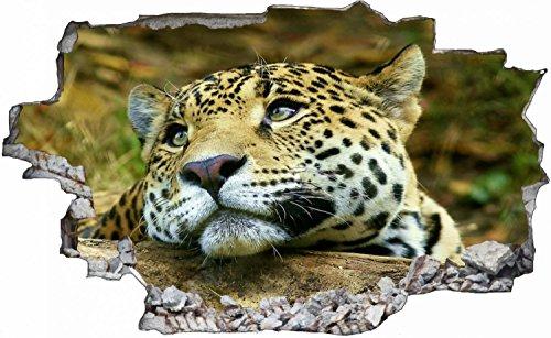 Leopard Tier Wildlife Wandtattoo Wandsticker Wandaufkleber C0063 Größe 70 cm x 110 cm