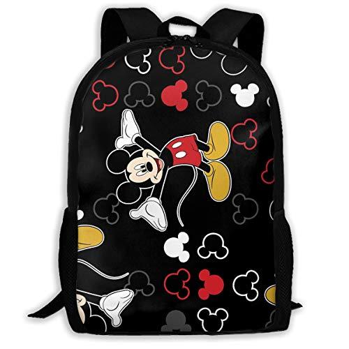 Mochila ligera para portátil con diseño de Mickey Mouse, color negro, resistente al agua