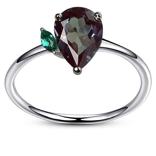 Circón gris con turmalina en anillo de plata 950