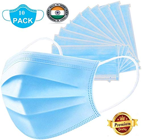Callas 3 Layered Disposable Dust Mask With Ear Loop (Pack Of 10)
