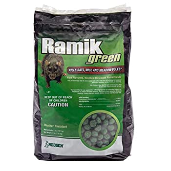 Neogen Ramik Green Fish Flavored Weather Resistant Rodenticide Nuggets 4 lb bag