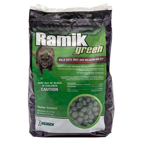 Neogen Ramik Green Fish Flavored Weather Resistant Rodenticide Nuggets, 4 lb bag