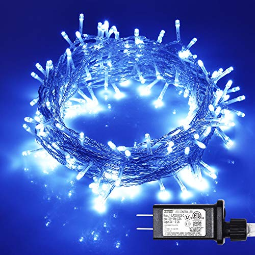 ILLUMINEW 108ft 300 LED Twinkle String Lights, Safety Plug in 8 Modes Halloween Christmas Decorations, Mini Lights, Indoor Christmas Tree Wire Fairy Lights for Bedroom, Wedding, Party Decor(Pink)