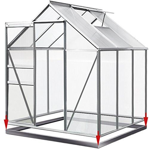 3. Deuba Aluminium Gewächshaus 5,85 m³ mit Fundament