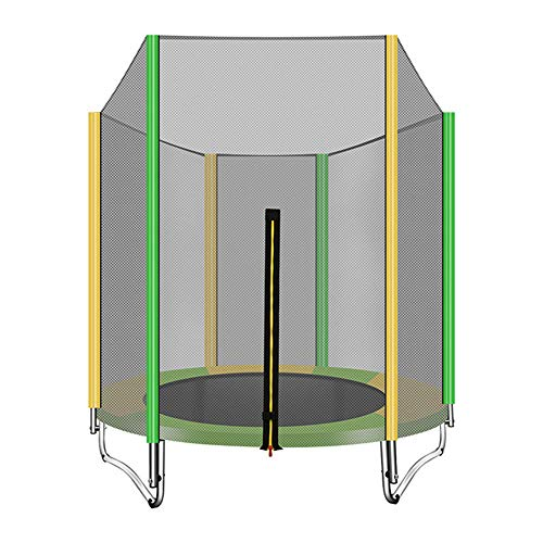 WBXZAL Garden Trampolines Full Sets, Including Jumping Mat + Safety Net,Ø150CM, Maximum Load 160KG, Uv Resistance, Garden Trampoline for Kids