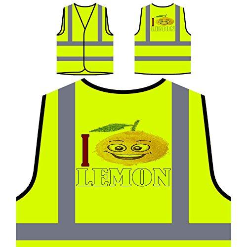 Amo la legumbre de fruta fresca de limón Chaqueta de seguridad amarillo personalizado de alta visibilidad a357v