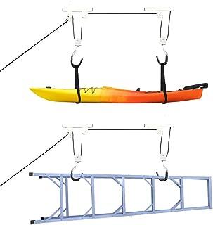 Oeyal Heavy Duty Bike Lift Hoist for Garage Storage, Kayak Canoe Ceiling Mount Hoists Pulley System 110lbs Capacity Pack of 1 (1 Pack)