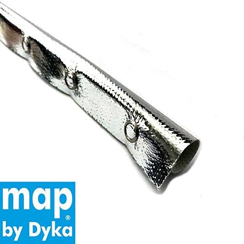 Hitzeschutzschlauch Thermoschlauch Kabelschutz gegen Hitze mit Druckknopf bis 800°C, ID23 mm, Länge 1 m