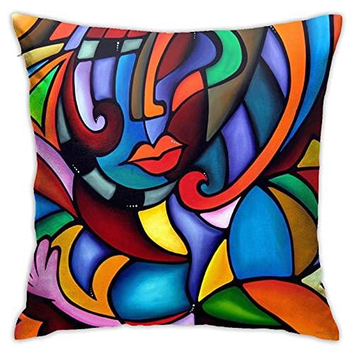 NA Fundas de Almohada Zeus Pop Art, Funda de Almohada Cuadrada Decorativa, Funda de cojín Suave y sólida para sofá, Dormitorio, Coche