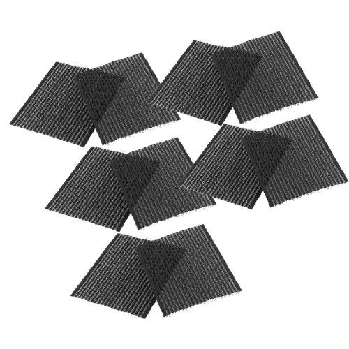sourcingmap Frange Magic clip Coller poteaux Frange Cheveux autocollants Noir, – Lot de 5