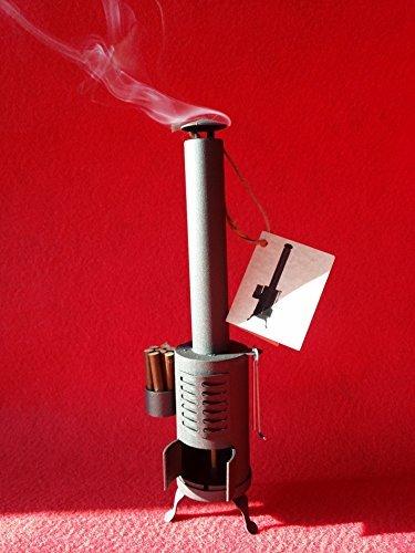 Totpertubarcelona Estufa Vintage Quemador de Incienso (Altura 27 cm). Ambientador Decorativo.