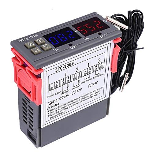 Control de temperatura por microordenador, termostato, intuitivo, robusto, resistente al desgaste, portátil para dispositivos de calefacción, refrigeración(24V)