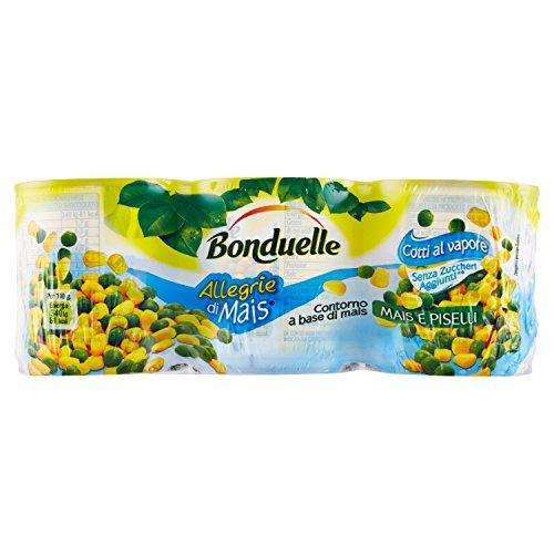 Bonduelle Mais e Piselli, Contorno a Base di Mais, 3 x 170 gr - Totale: 510 gr