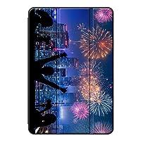 Sepikey iPad 10.2 2019/iPad 保護ケース,耐落下性 三段角度調節 キズ防止 保護ショックプルーフ PC + PUレザー 三段角度調節 背面シェルケース iPad 10.2 2019/iPad Case-花火9