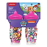 Playtex Sipsters Stage 3 Paw Patrol Spill-Proof, Leak-Proof, Break-Proof Spout Cup for Girls, 9...
