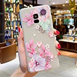 Cocomii 3D Flower Matte Clear Galaxy A8+ Plus 2018 Case, Slim Thin Matte Soft TPU Silicone Rubber Gel 3D Silicone Floral Bumper Cover Compatible with Samsung Galaxy A8+ Plus 2018 (Watercolor Flowers)