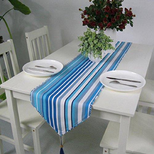 LDONGPENG LD&P Mariage Coton et Chemin de Table Toile Bleue Double Face épaisse et Durable à Double Usage décorations Cadeaux de fête,Green,32 * 200cm