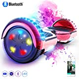 MARKBOARD Overboard 6.5 Pouces Bluetooth, Gyropode Hover Scooter Board avec Roues Flash LED,...