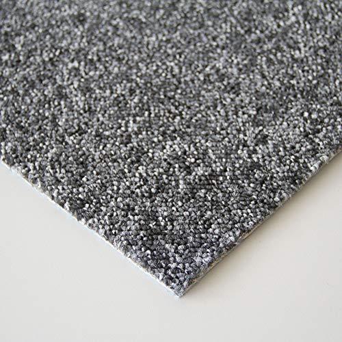 Steffensmeier Schlingen Teppichboden Meddon XL Meterware | Auslegware für Flur Büro | 1m 2m 3m 4m 5m breit! | Anthrazit, Größe: 400x400 cm