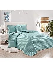 طقم لحاف مضغوط وجهين مفرش سرير 6 قطع ، مقاس مزدوج