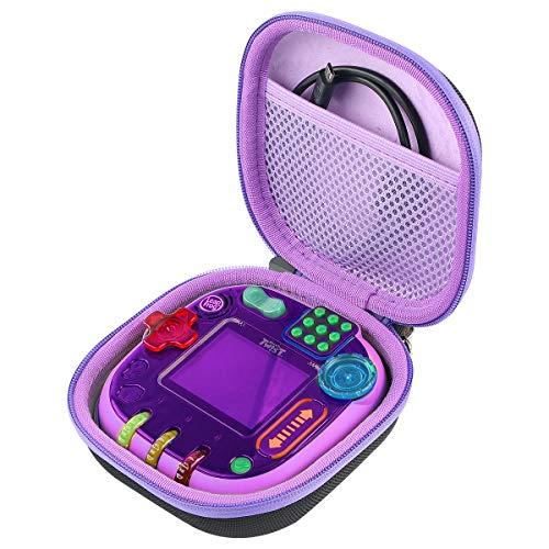 co2CREA Harte reiseschutzhülle Etui Tasche für Vtech 80-606064 Rockit Twist Toy Lernspielkonsole(Internes Violett)
