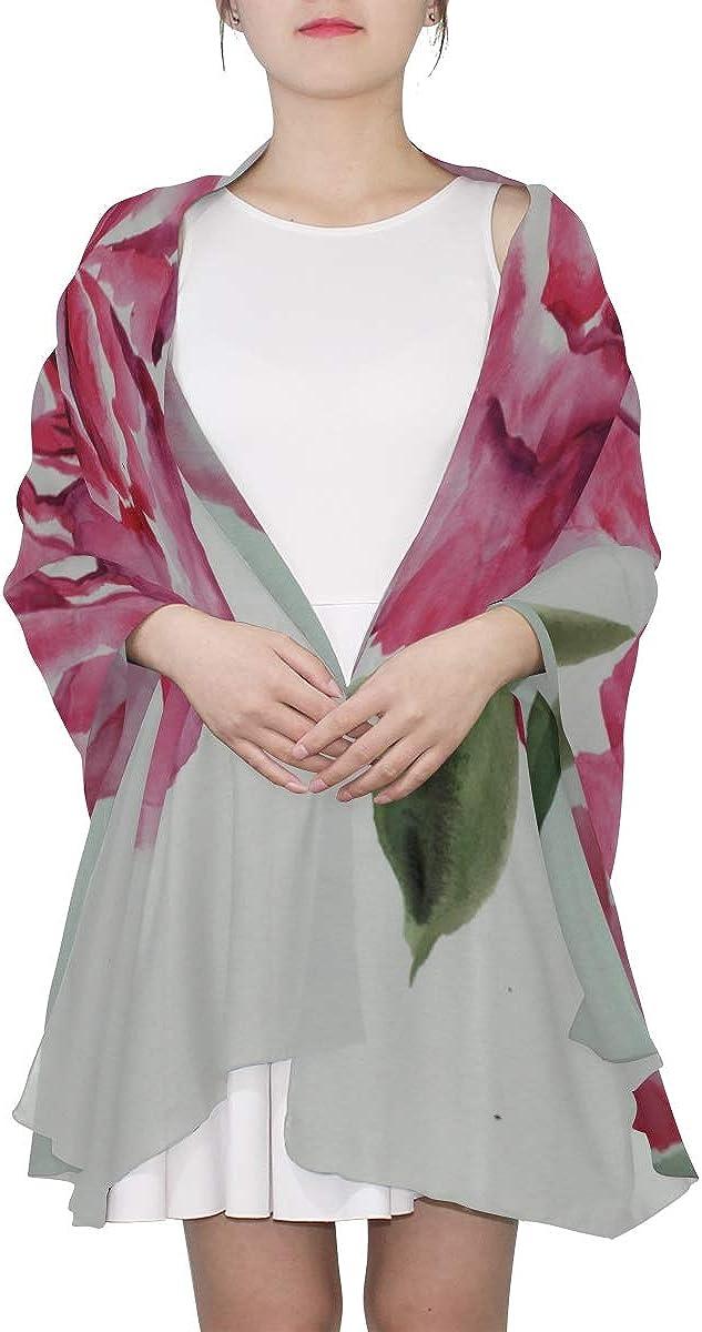 Soft Scarf Ink Painted Spring Flower Fashion Scarf Lightweight Scarfs For Women Lightweight Print Scarves Multi Scarf Women Scarf Summer