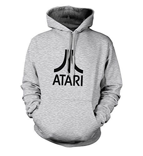 Atari Gray or Black Athletic Hoodie, Fruit of the Loom, Unisex, S to XXL