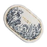 Baoblaze Alfombra de baño de Estilo Americano, Suave y Gruesa, Muy Absorbente, para Hotel, SPA, bañera, alfombras para el Suelo, 40x60 cm - Jardinera Ovalada