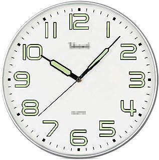 Wall Clock Living Room Glowing Wall Clock Creative Simple Round Quartz Watch Modern Clock