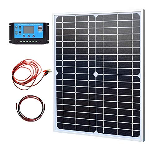 XINPUGUANG Kit panneau solaire 20W 18V Mono Module 10A Solar Controller for Streetlight, Light Led, Camera, Automotive, Motorcycle, Boat, RV, Power Charging