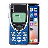 Stuff4®Phone Case/Cover/Skin/IP-CC/Retro teléfonos Collection Nokia 8210 Bleu Apple iPhone XS