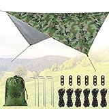 Idefair Lona para Tienda de campaña, Lona Impermeable contra la Lluvia para Acampar al Aire Libre Protección UV Huella de Refugio para Acampar al Aire Libre Mochila Senderismo Hamaca