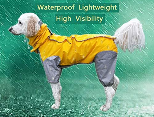 MASKOTA hond regenjassen waterdicht lichtgewicht en hoge zichtbaarheid volledige bereik maten voor grote middelgrote kleine alle rassen Poncho hoodies, Size 28