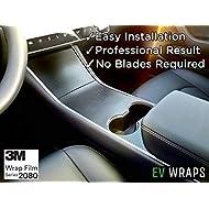 EV Wraps Tesla Model 3 / Model Y Center Console Wrap - Carbon Fiber