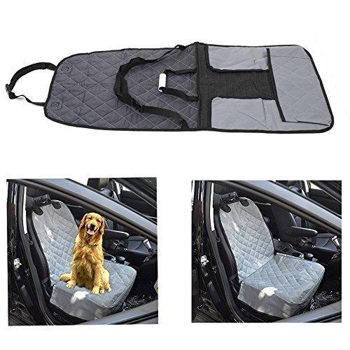 Itian waterdichte huisdier emmer stoel cover hond auto voorzijde stoel cover enkele stoel cover voor hond huisdier stoel beschermer (grijs)