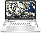 HP 14' HD Anti-glare WLED-Backlit Chromebook, Intel Celeron N4000 Upto 2.6GHz, 4GB DDR4, 32GB eMMC, WiFi 5, Bluetooth, Webcam, Backlit keyboard, Media Reader, USB-C, Chrome OS, 64GB ABYS Micro SD Card