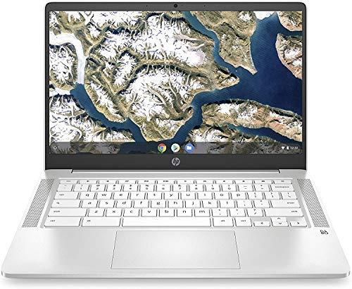 """HP 14"""" HD Anti-glare WLED-Backlit Chromebook, Intel Celeron N4000 Upto 2.6GHz, 4GB DDR4, 32GB eMMC, WiFi 5, Bluetooth, Webcam, Backlit keyboard, Media Reader, USB-C, Chrome OS, 64GB ABYS Micro SD Card"""