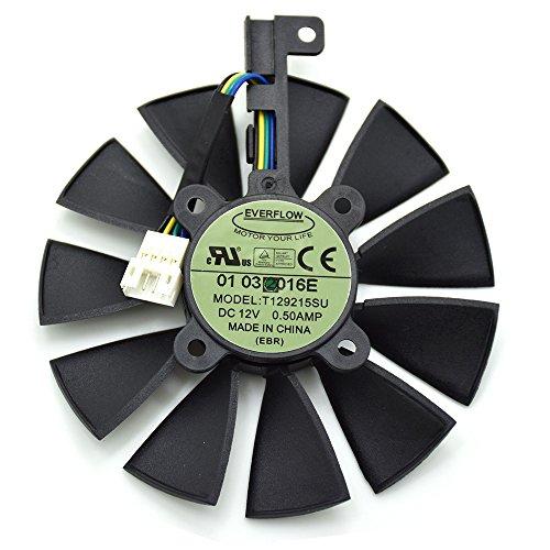 iHaospace T129215SU 12V 0.5A 87mm 4Pin Video Card Cooler For ASUS Strix GTX980Ti GTX970 GTX1070 GTX1080 Strix R9 390X R9-390 Graphics Card Cooling Fan