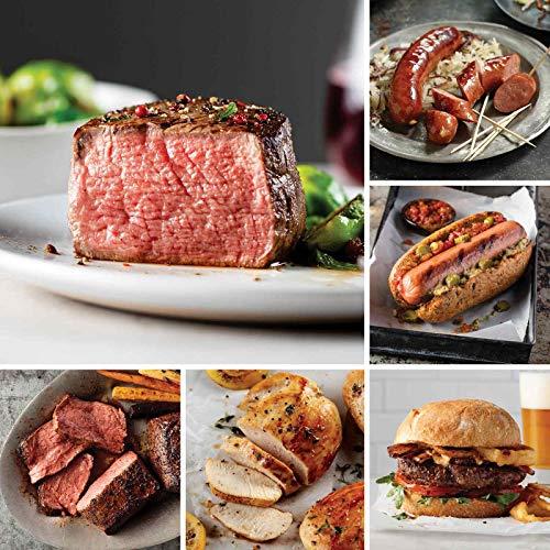Ultimate Steaks & Meals Assortment from Omaha Steaks (Butcher's Cut Filet Mignons, Top Sirloins, Boneless Chicken Breasts, Omaha Steaks Burgers, Gourmet Jumbo Franks, Kielbasa Sausages, and more)