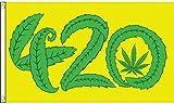 AZ FLAG Flagge Marihuana It's 4.20 O'CLOCK Somewhere 150x90cm - ES IST 4.20 Uhr IRGENDWO Fahne 90 x 150 cm - flaggen Top Qualität