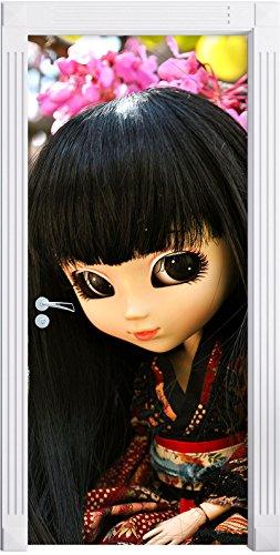 Stil.Zeit Möbel geishas Gracieuse Pullip comme Mural, Format: 200x90cm, Cadre de Porte, Porte Autocollants, décoration de Porte, Porte Autocollants