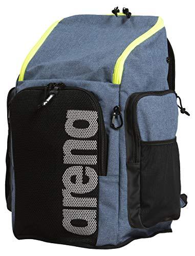 ARENA Team Backpack 45 Grande Zaino da Nuoto e Piscina, Zaino da Viaggio Sportivo per Palestra e Tempo Libero, Zaino da Mare con Sacca da Nuoto per Indumenti Bagnati e Fondo Rinforzato, 45 L, Blu